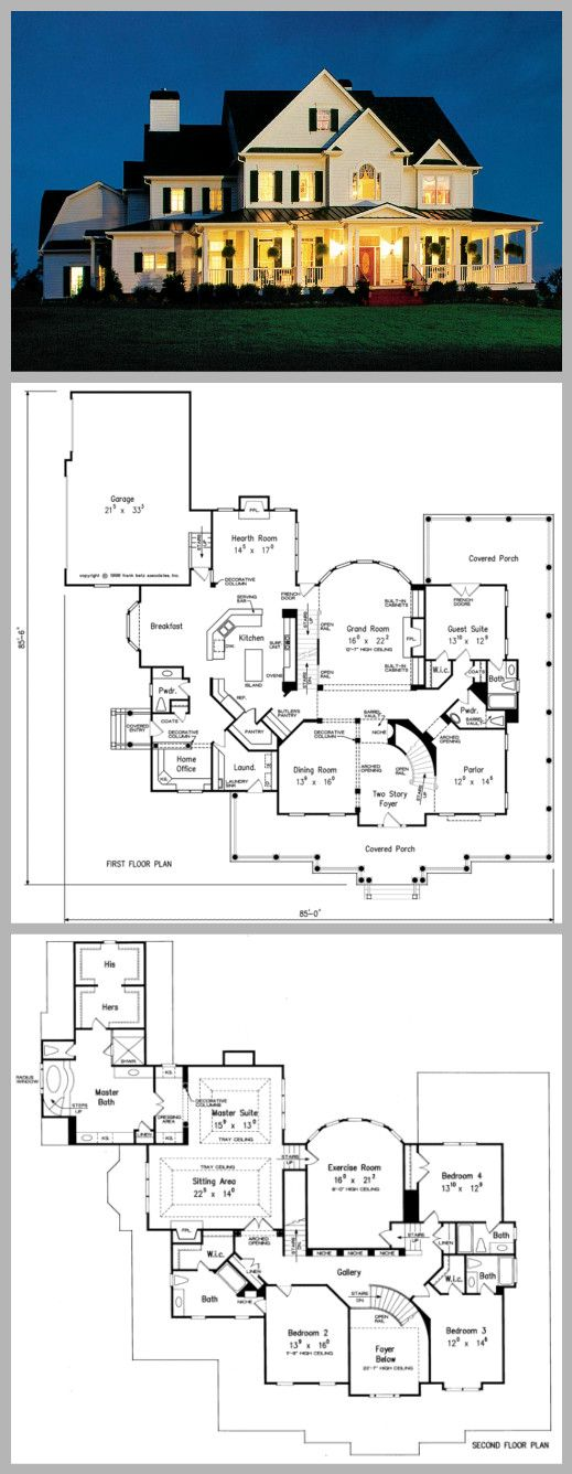 plan of the week the brookshire manor is a gorgeous 5466sqft frankbetz - Home Blueprints