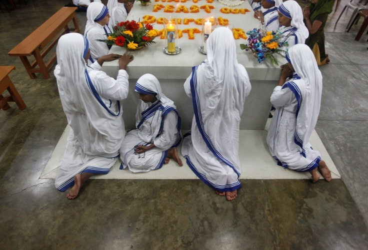 Catholic nuns from the Missionaries of Charity
