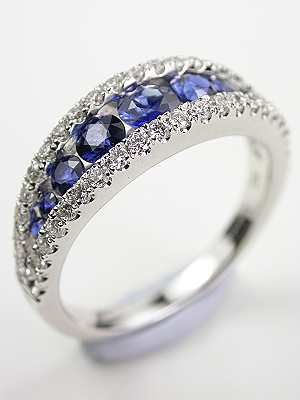 Sapphire and Diamond Wedding Ring