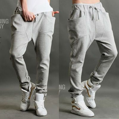 3Color Choice Fashion Style New Mens Casual Rope Sport Harem Trousers Pants 1071 | eBay