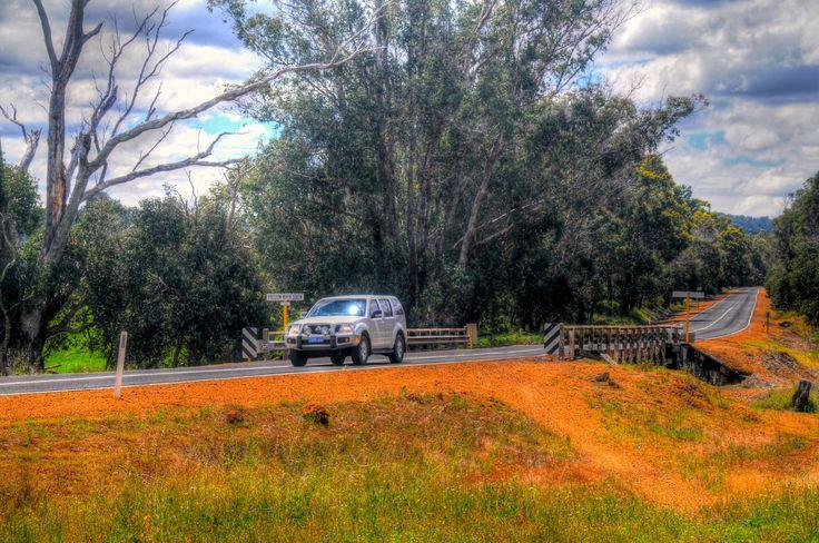 Traveling. Donnybrook, South West  Australia, Bush. Preston River South.