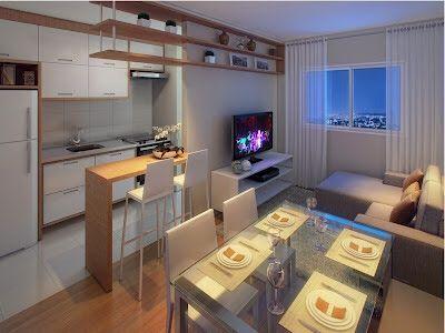17 mejores ideas sobre decoração cozinha e sala conjugada en ...