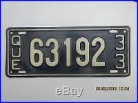 Résultats de recherche d'images pour «quebec license plates 1933»