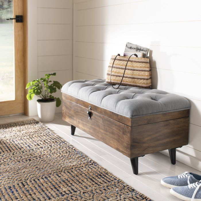 Riva Tufted Cocktail Storage Ottoman Storage Bench Bedroom
