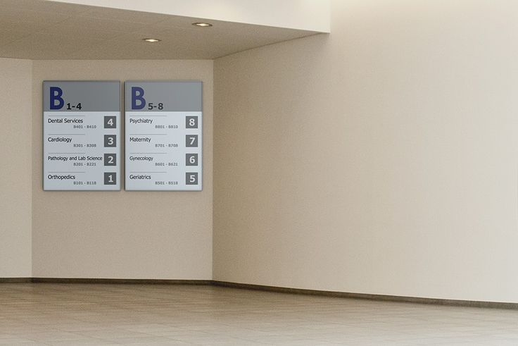 Large I-sign frames used for showing the way internally in the company
