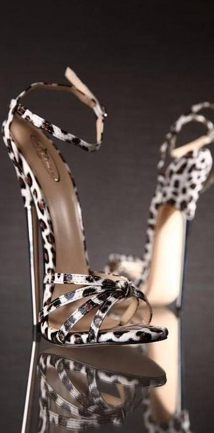 leopard print sexy high heel sandles