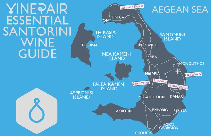 Santorini Winery Map. Our Guide To Touring Santorini Wines