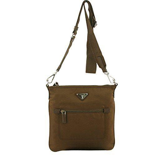 Prada Tessuto Nylon Bandoliera Crossbody Bag Messenger BT0716 Brown Nylon