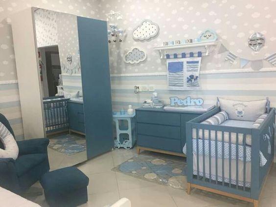 افكار مبتكرة لتصميم غرف نوم المواليد الاولاد 2019 New Creative Baby Boy Nursery Desig Decoracao Quarto Nenem Quartos De Bebe Chevron Quartos De Bebes Decorados