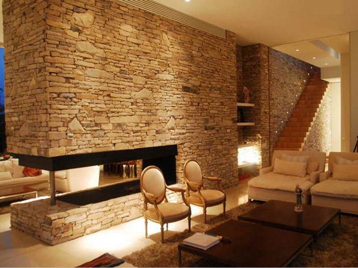 фото дизайн комнаты с диким камнем морская вода высочайшим