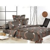 Found it at Wayfair Australia - Carlisle Queen Quilt Cover Set in Linen with Chocolate and White