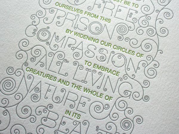 Compassion Letterpress Poster