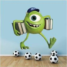 Monster University Wall Decals | Wall Art Graphic MONSTERS INC UNIVERSITY  MIKE WAZOWSKI Printed Vinyl . Part 41