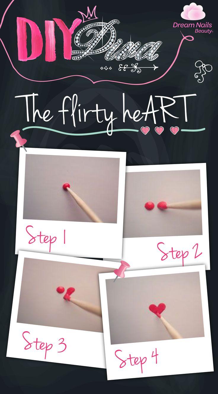 the Flirty Heart Nail tutorial