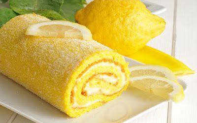 HELLASTHIVA: Ρολό κέικ με κρέμα λεμόνι
