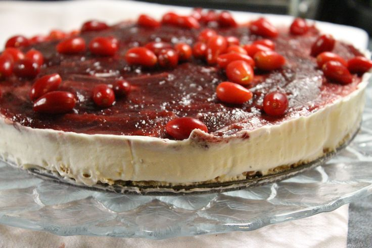 it's my cornelian cherry cheese cake!!