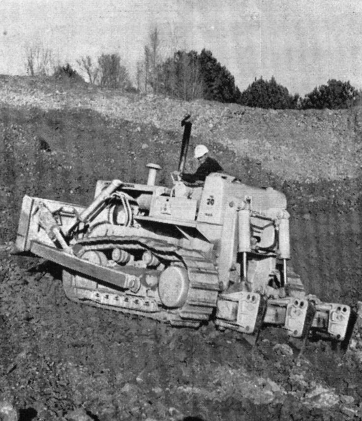 """Ateco ripper equipped TD-20B """"somewhere in New Zealand"""". There are no other details with this photo other than it was taken in 1968 by the late Roger Wereta."""
