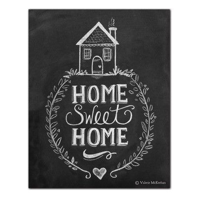 Home Sweet Home  Print  Chalk Art, Sweet and Home