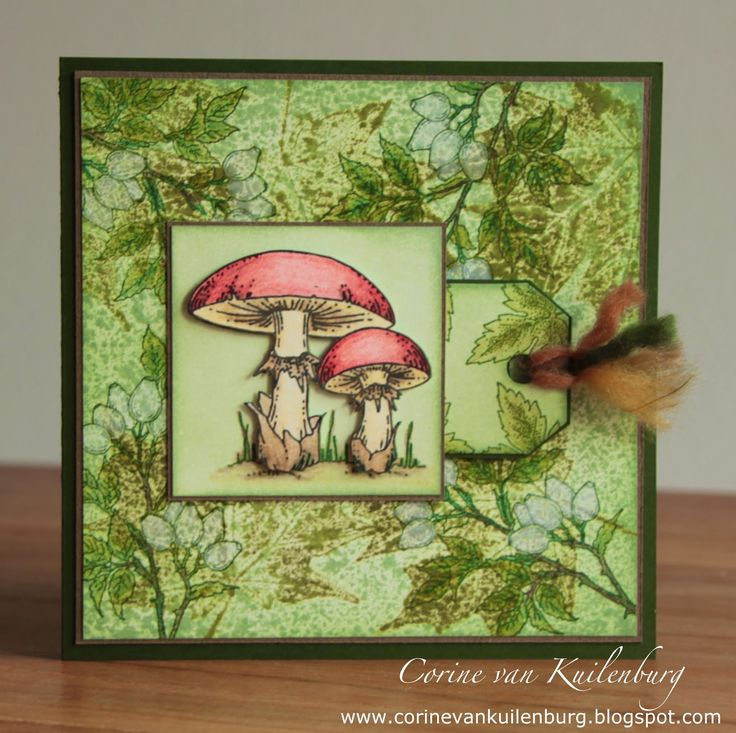 Corine's Gallery: Tadstools and leaves, Chocolate Baroque Autumn Poppy