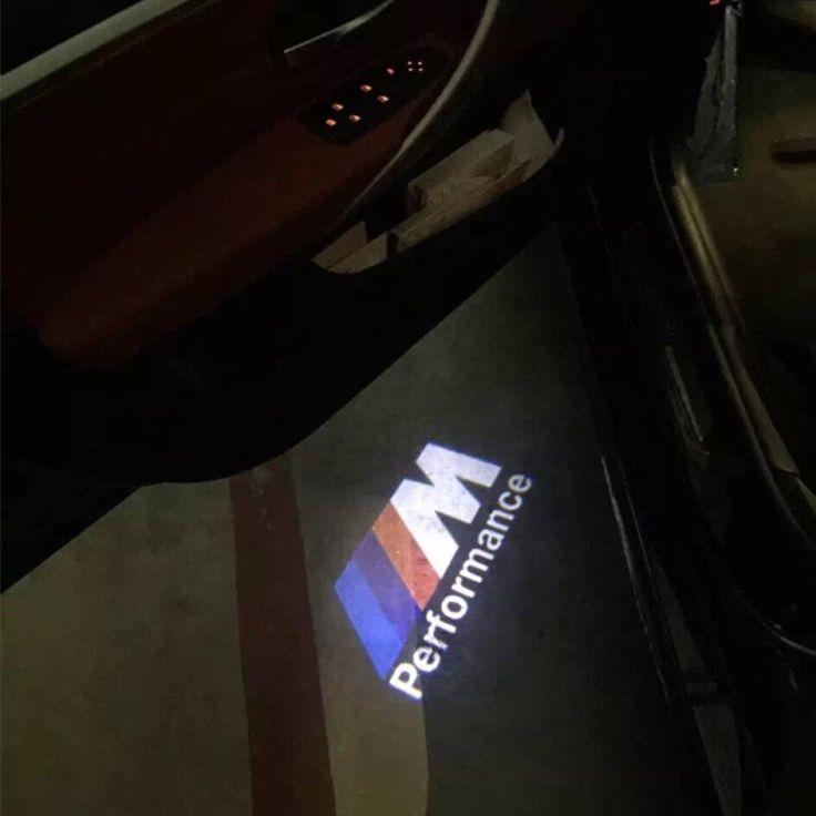 Bmw Logo: 2x LED Door Warning Light For Bmw M Performance Logo