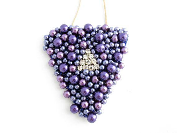 """Grape"" Handmade Statement Necklace"