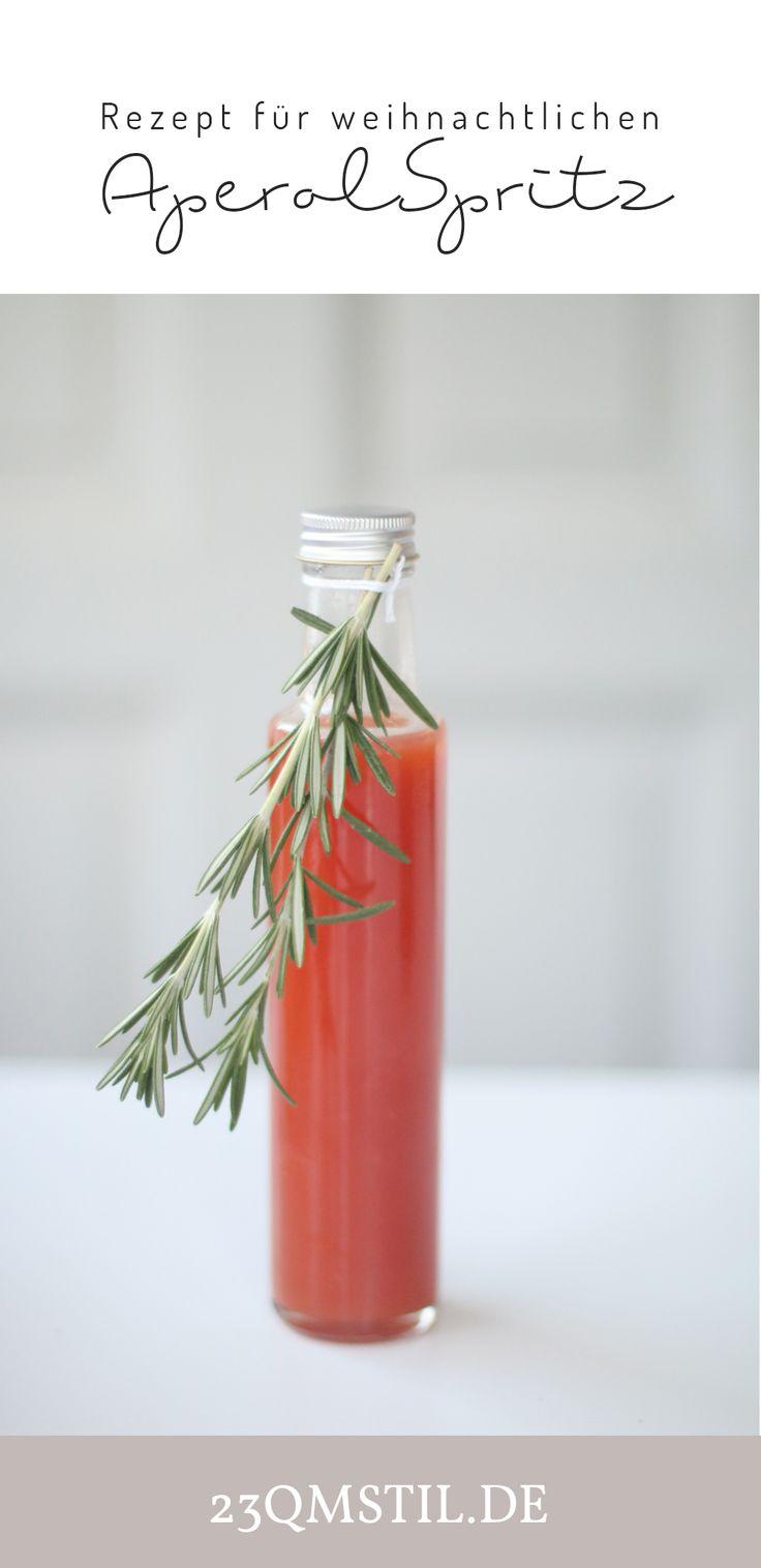 Rezept für weihnachtlichen Aperol Spritz #weihnachten #weihnachtsmenü #aperolspritz #apéritif