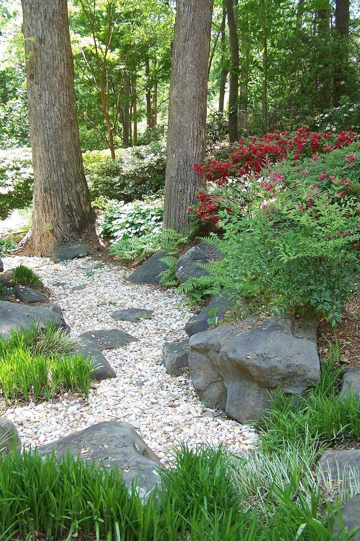 117 best images about landscape on pinterest backyards for Sloped rock garden designs