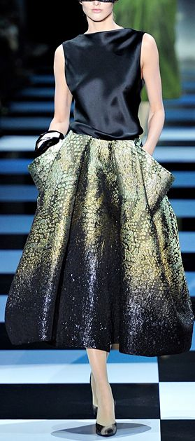 ARMANI PRIVE HAUTE COUTURE PARIS S/S 2012 ♥✤