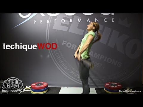 An Easy Way to Teach the Snatch or Clean w/ Christmas Abbott - TechniqueWOD - Barbell DAILY