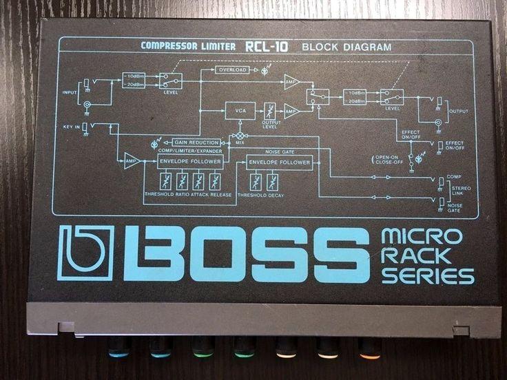 BOSS guitar effects RCL-10 compressor limiter Block Diagram micro rack series  #Boss