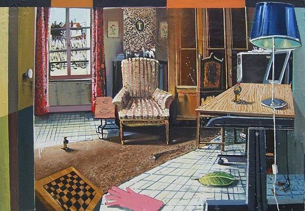 MATHIEU CHERKIT, In progress, 2011, huile sur toile, 81/116cm