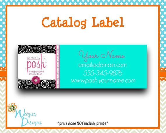 Perfectly Posh Catalog label Direct Sales by WeeziesDesigns