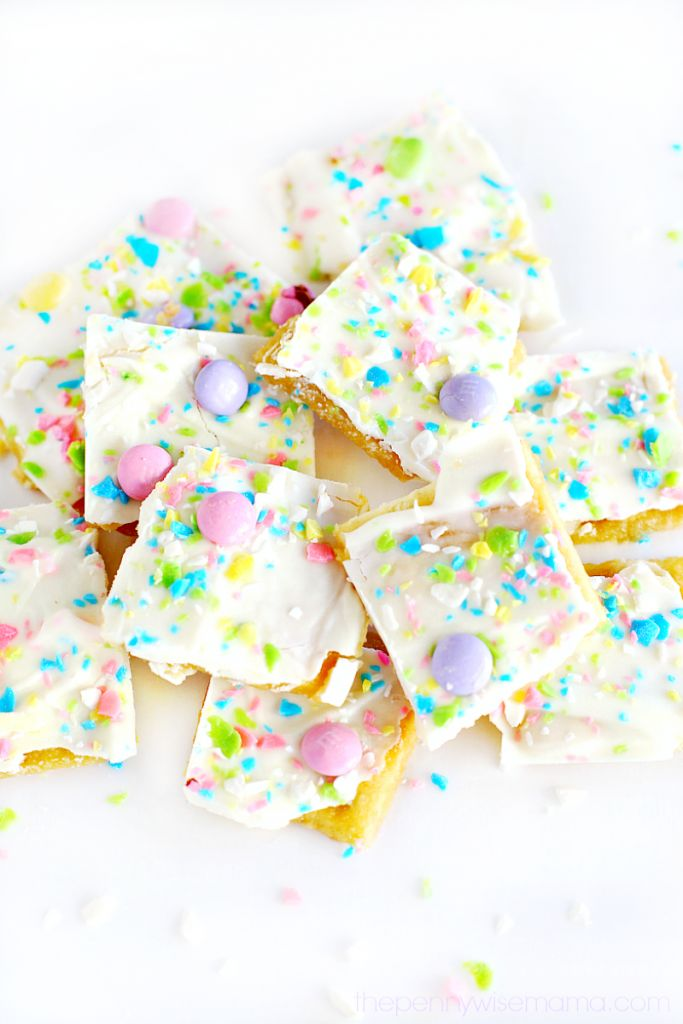 Easter Crack – saltine toffee with pretty Easter colors!