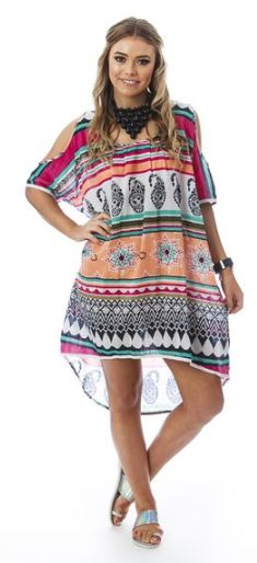 Butterfly dress cut out shoulders a very boho chic look for summer days.