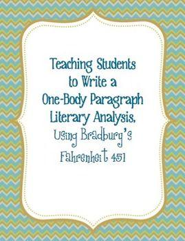 best teaching fahrenheit images fahrenheit writing a one body paragraph analysis using bradbury s fahrenheit 451