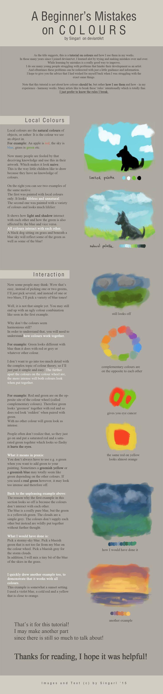 Tutorial - A Beginner's Mistakes on Colours by Singarl.deviantart.com on @DeviantArt