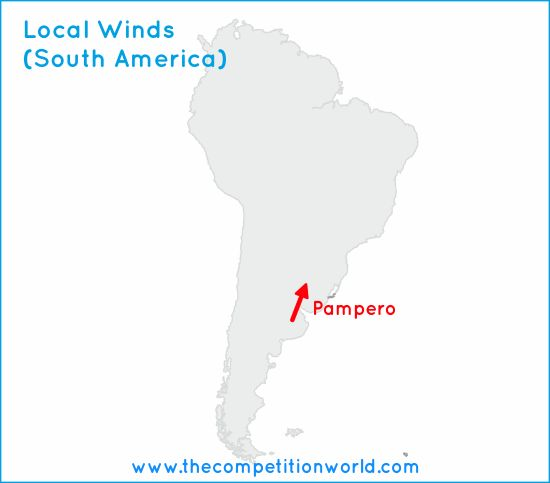 Local Winds  and  Local Wind Map of South America