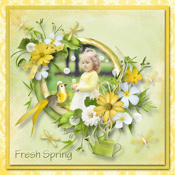 """""""Fresh Spring"""" by MiSi Scrap and Samal Designs, https://www.pickleberrypop.com/shop/product.php?productid=42786"""