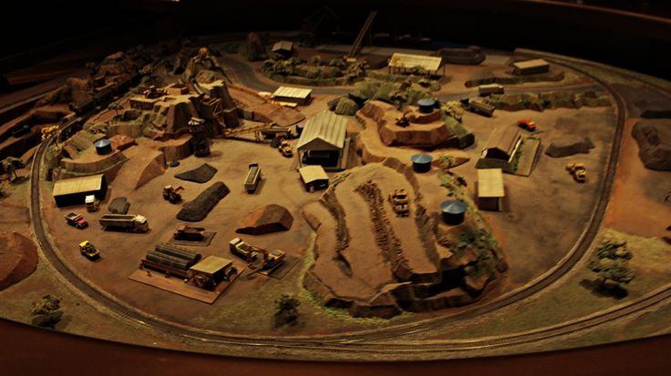 Maquete mineradora - Museu das Minas e do Metal - Circuito Cultural Praça da Liberdade - Belo Horizonte