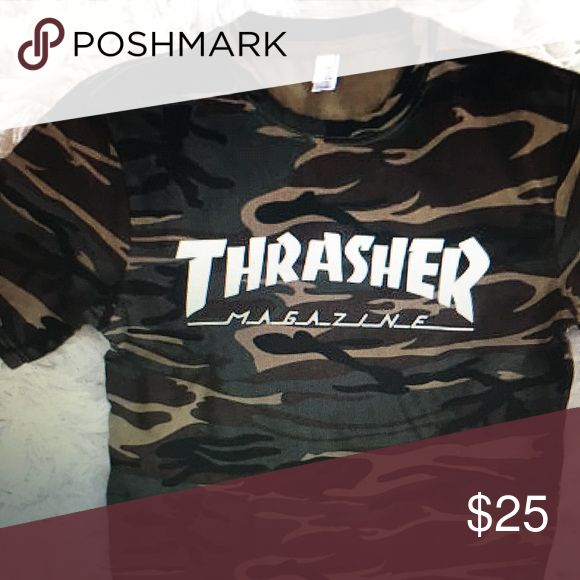 Thrasher magazine t-shirt Super cute!!! Never worn!! It's a size small and is super comfy :) Tops Tees - Short Sleeve