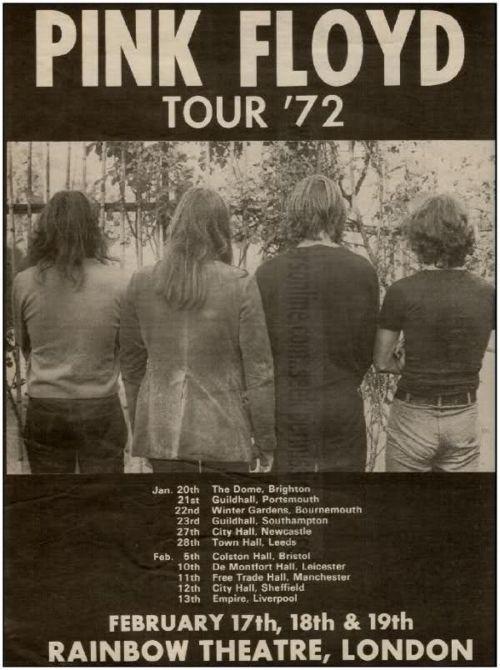 pink floyd tour 1972