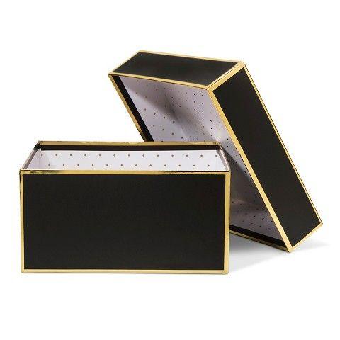 Sugar Paper Black and Gold Gift Box - Small