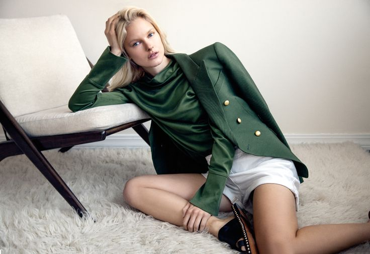 The Submerge Top and Dimmer Blazer by CAMILLA AND MARC featured in Sunday Style magazine.