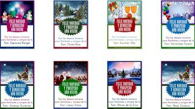 """Banco de imágenes: 100 tarjetas navideñas con mensaje de """"Feliz Navidad y Bendecido Año Nuevo"""" con apellidos de familias para compartir en sus redes sociales con familiares y amigos..."""