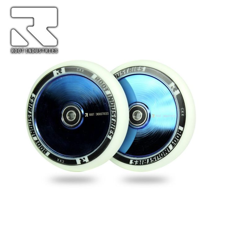 ROOT INDUSTRIES HOLLOW CORE 110MM SCOOTER WHEEL - WHITE/BLU-RAY