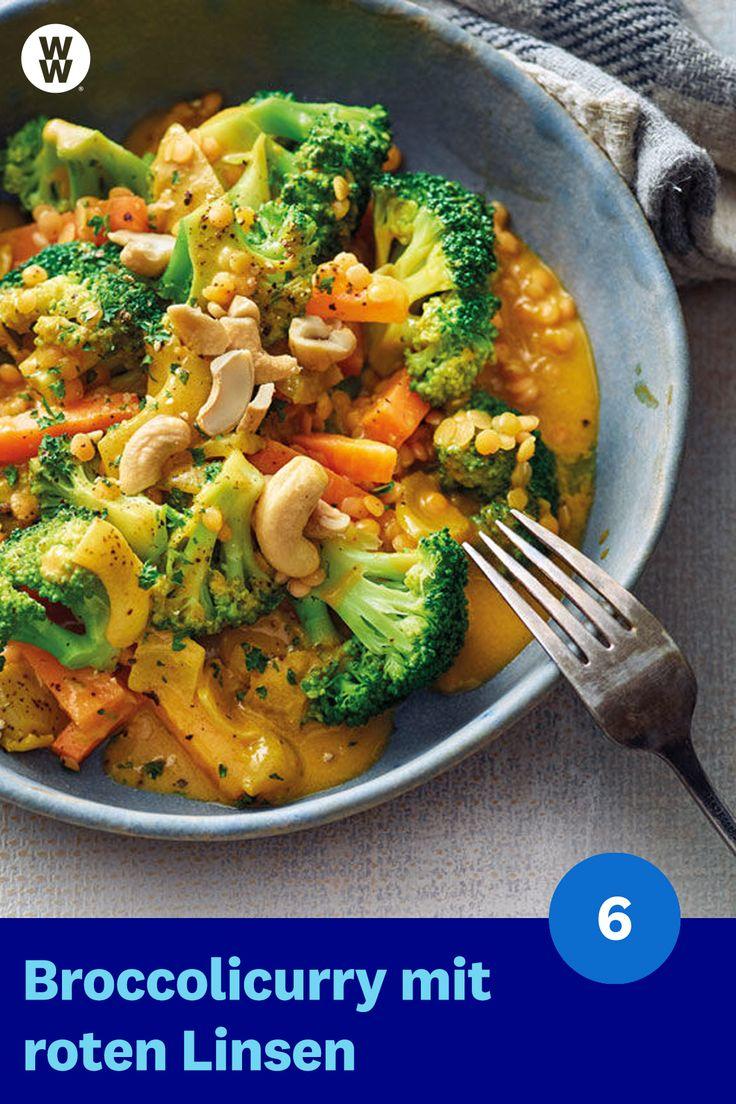 Sie mögen Currys? Und Linsen? Dann das WW-Rezept für vegetarischen Brokkoli …   – Food