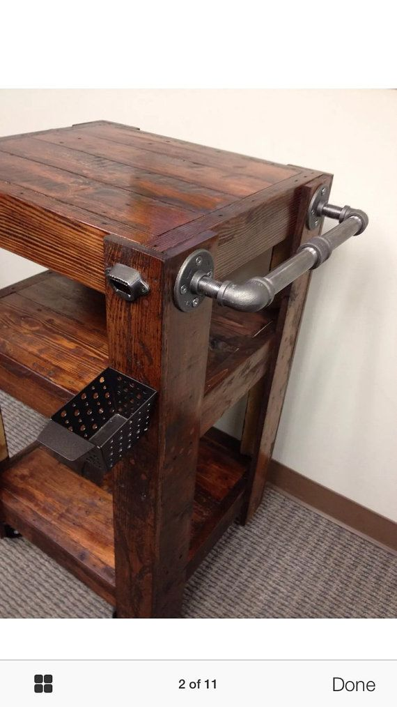 Industrial Bar Cart by JB13DESIGNS on Etsy