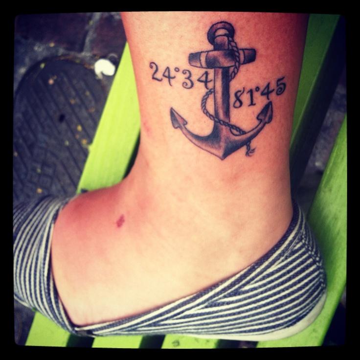 Anchor tattoo key west cool ideas pinterest key