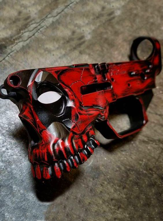 Deadpool Custom Paint Job Done On Sharps Bros The Jack Ar 15 Lower Receiver Gen 2 Receivers Are Milled From Solid Blocks Of 7075 T6