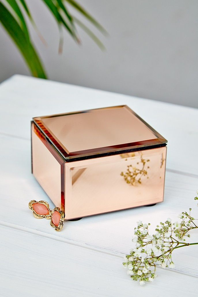 Oola Rose Gold Small Mirrored Jewellery Box  For my vanity